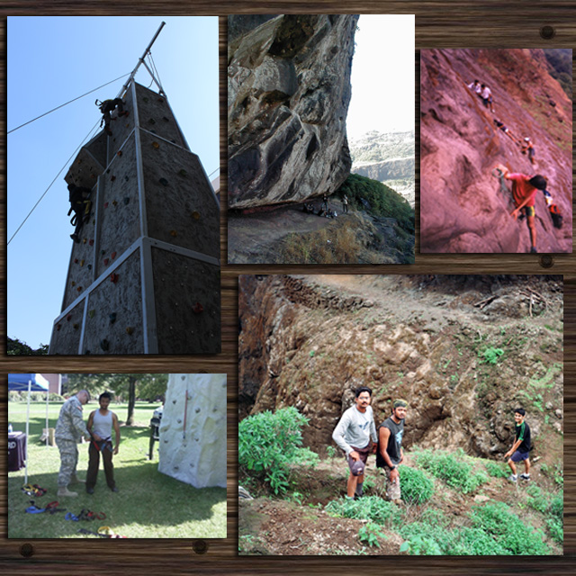Rock climbing and Rappelling